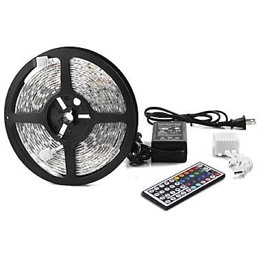 Other 5 M 300 5050 SMD RGB Vízálló / Távirányító / Összekapcsolható / Színváltós W RGB szalagfények DC12 V