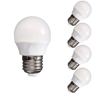 5 sztuk 3w 300-350 lm e26 / e27 żarówki led kulkowe a60 (a19) 10 diod led smd 5730 ściemnianych dekoracyjne ciepły biały zimny biały 110-130 v