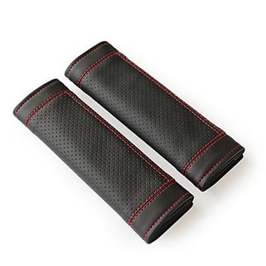 economico Coprisedili e accessori sedili per auto-Copricinghia di sicurezza cintura di sicurezza Marrone chiaro / Rosso / Nero / Rosso pelle sintetica Normale Per Universali
