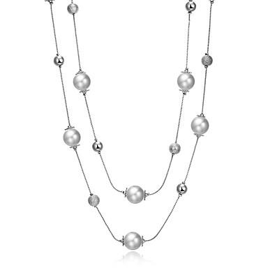 목걸이 계층화 된 목걸이 보석류 결혼식 / 파티 / 일상 / 캐쥬얼 패셔너블 합금 블랙 1PC 선물