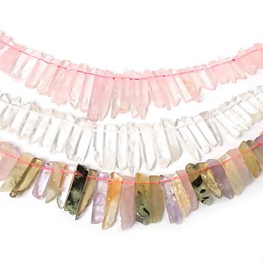 DIY ékszerek 38Cm(approx 38pcs) Rózsaszín Szivárvány Átlátszó üveggyöngy DIY Nyakláncok Karkötők