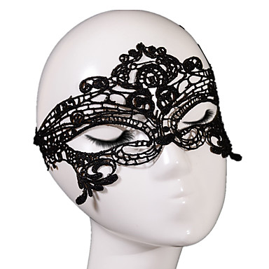 Lace Mask 1db Ünnepi dekoráció fél maszk Menő / Divat Egy méret Fekete / Fehér Csipke