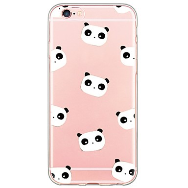 Case For Apple iPhone X iPhone 8 iPhone 6 iPhone 6 Plus Ultra-thin Translucent Back Cover Panda Cartoon Soft TPU for iPhone X iPhone 8