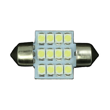 10 x wit 31mm 12SMD slinger koepel kaart interieur led lamp DE3175 3022 3021