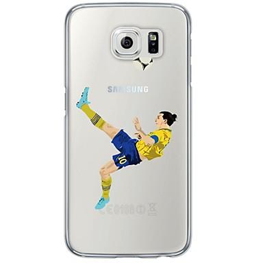 Case Kompatibilitás Samsung Galaxy Samsung Galaxy S7 Edge Átlátszó Minta Fekete tok Rajzfilm Puha TPU mert S7 edge S7 S6 edge plus S6
