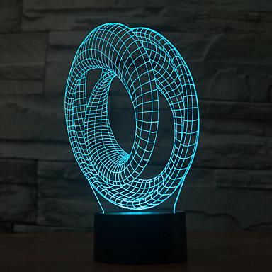 1 szt. 3D Nightlight Dekoracyjna LED