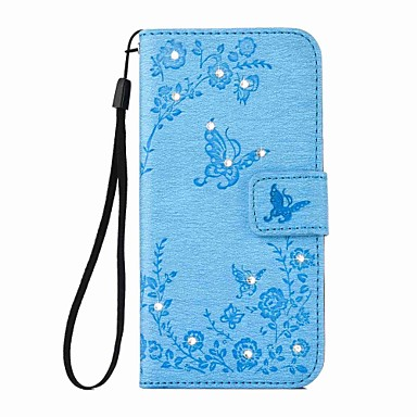 Case For Apple iPhone 6 Plus / iPhone 6 Wallet / Card Holder / Rhinestone Full Body Cases Butterfly Hard PU Leather for iPhone 7 Plus / iPhone 7 / iPhone 6s Plus