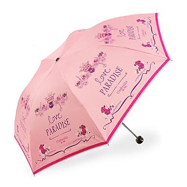 Összecsukható esernyő Fém Plastic Nő Férfi