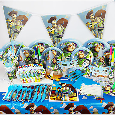 luxus Toy Story 78pcs szülinapi party dekoráció gyerekek evnent fél által party dekoráció 6 ember használja