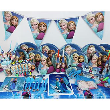 고급 디즈니 냉동 78pcs 생일 파티 장식 아이 evnent 파티 용품 파티 장식 육명 사용