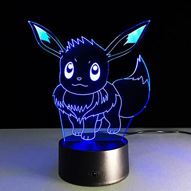 Najnowszy cykl kieszeń Ibrahimovic 3d wizualne doprowadziły lightscolorful dotykowy USB lampka 3d tabeli jako dzieci dziecko śpi nocne