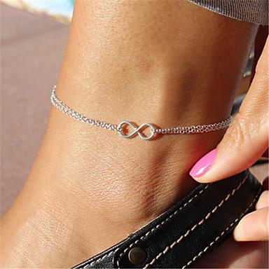 Dames Enkelring /Armbanden Legering Uniek ontwerp Modieus Kostuum juwelen Sieraden Oneindigheid Sieraden Voor Feest Dagelijks Causaal