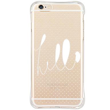 Mert iPhone 6 tok / iPhone 6 Plus tok Ütésálló / Porálló / Minta Case Hátlap Case Szó / bölcselet Puha TPU AppleiPhone 6s Plus/6 Plus /