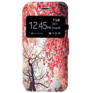 용 아이폰7케이스 / 아이폰7플러스 케이스 / 아이폰6케이스 카드 홀더 / 스탠드 케이스 풀 바디 케이스 나무 하드 인조 가죽 Apple 아이폰 7 플러스 / 아이폰 (7)