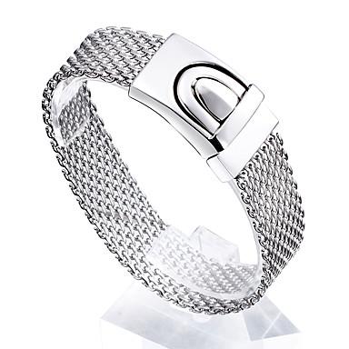 Férfi Lánc & láncszem karkötők Barátság Divat Rozsdamentes acél Geometric Shape Ékszerek Kompatibilitás