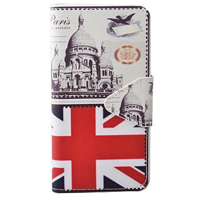 Case Kompatibilitás Apple iPhone 6 iPhone 7 Kártyatartó Pénztárca Állvánnyal Flip Mágneses Minta Dombornyomott Héjtok Zászló Kemény PU bőr