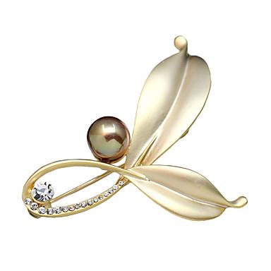 Damskie Broszki Imitacja pereł Kryształ Silver Golden Biżuteria Na Impreza Codzienny Casual