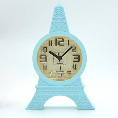 (임의의 색) 홈 사무실 책상 시계 학생 미니 시계를 차지 에펠 탑 (Eiffel Tower) 계약 스타일