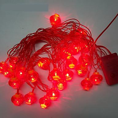 10m 24led 빨간 등불 문자열 조명