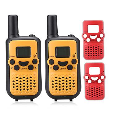 PMR 446mhz walkie-talkie gyerekeknek cserélhető műanyag (2db ingyenes) kimenet 0.5W 8channels akár 3km-5km AAA alkáli elem