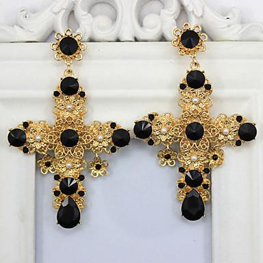 Női Divat Méretes ékszerek Menyasszonyi Európai Hamis gyémánt Ötvözet Cross Shape Ékszerek Ékszerek Kompatibilitás Esküvő Napi Hétköznapi