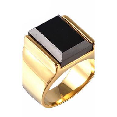 Męskie Syntetyczny Sapphire / Kamień szlachetny Naturala czerń Pierścień oświadczenia - Vintage, Duże 8 / 9 / 10 Silver / Golden Na Prezenty bożonarodzeniowe / Impreza / Codzienny