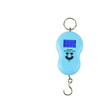 hordozható elektronikus skála (angol változat, kék, maximum skála: 40kg)