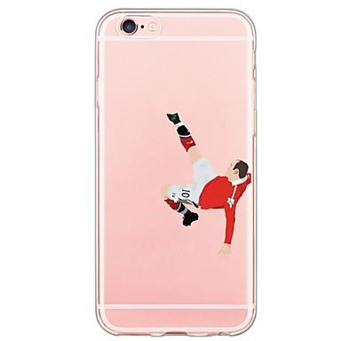Mert iPhone 6 tok / iPhone 6 Plus tok Ultra-vékeny / Áttetsző Case Hátlap Case Rajzfilmfigura Puha TPU AppleiPhone 6s Plus/6 Plus /