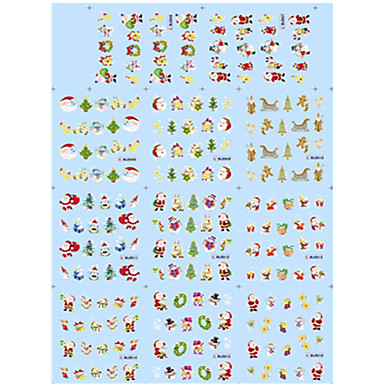 1pcs 네일 쥬얼리 기타 장식 풀 네일팁 네일 스탬핑 템플릿 카툰 러블리