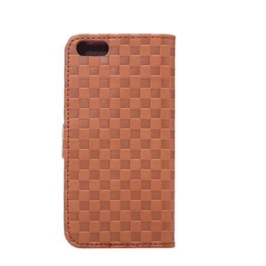Case Kompatibilitás iPhone 5 Apple iPhone 5 tok Kártyatartó Állvánnyal Other Héjtok Tömör szín Kemény PU bőr mert iPhone SE/5s