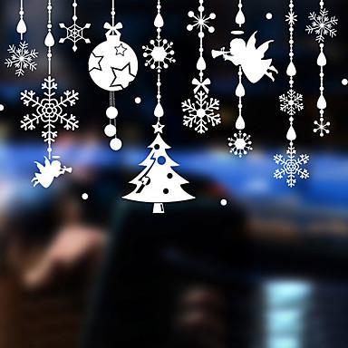 Art Deco Współczesny Naklejka okienna, PVC/Vinyl Materiał Dekoracja okna Jadalnia Sypialnia Biuro Pokój dla dzieci Salon Łazienka Shop /