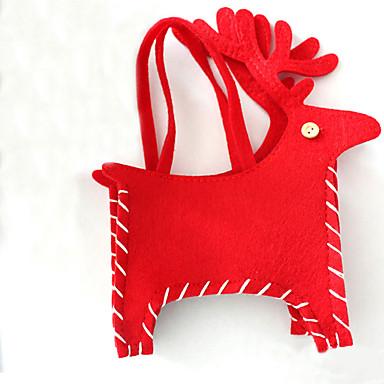 1db piros karácsonyi szarvas cukorka táska kellemes karácsonyi lakberendezési ünnep fél kreatív ajándék