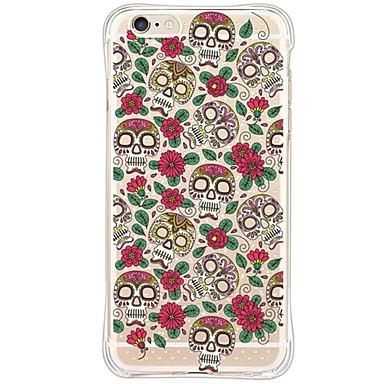 Mert iPhone 6 tok / iPhone 6 Plus tok Vízálló / Ütésálló / Porálló / Átlátszó Case Hátlap Case Koponya Puha TPU AppleiPhone 6s Plus/6
