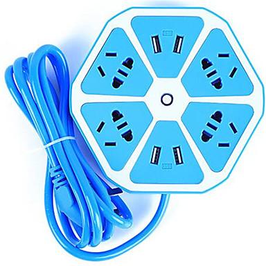 Ładowarka domowa Telefonowa ładowarka USB Wtyczka US Wtyczka EU Wieloportowa 4 porty USB 2.1A 2,5A 1A AC 100V-240V Do smartfona Do