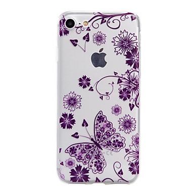 Mert iPhone 7 tok / iPhone 7 Plus tok / iPhone 6 tok Áttetsző / Dombornyomott / Minta Case Hátlap Case Pillangó Puha TPU AppleiPhone 7