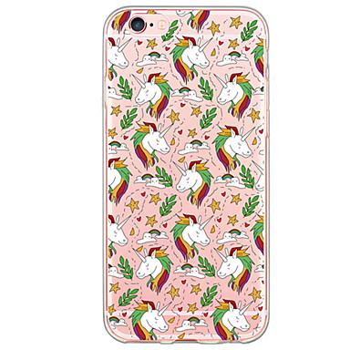 voordelige iPhone 5 hoesjes-hoesje Voor iPhone 6s Plus / iPhone 6 Plus / iPhone 6s iPhone SE / 5s Ultradun / Doorzichtig Achterkant Cartoon Zacht TPU