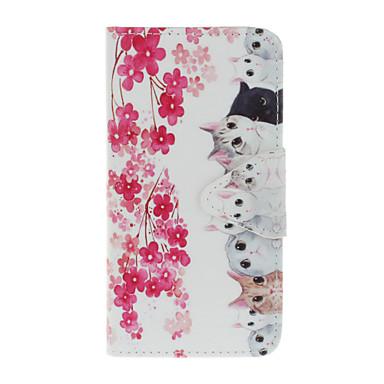 Mert iPhone 7 tok / iPhone 6 tok / iPhone 5 tok Kártyatartó / Minta Case Teljes védelem Case Cica Kemény Műbőr AppleiPhone 7 Plus /