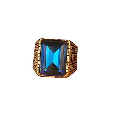 남성용 밴드 반지 문자 반지 사치 패션 유럽의 스테인레스 모조 다이아몬드 보석류 제품 일상 캐쥬얼