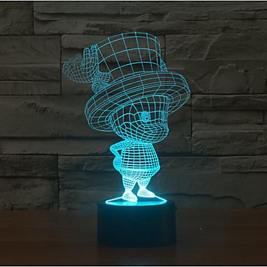 gyermek touch dimming 3d led éjszakai fény 7colorful dekoráció légkör lámpa újdonság megvilágítás fény