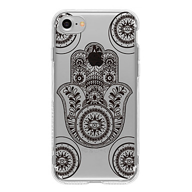 Kılıf Na Apple iPhone 6 iPhone 7 Plus iPhone 7 Wzór Czarne etui Geometryczny wzór Miękkie TPU na iPhone 7 Plus iPhone 7 iPhone 6s Plus