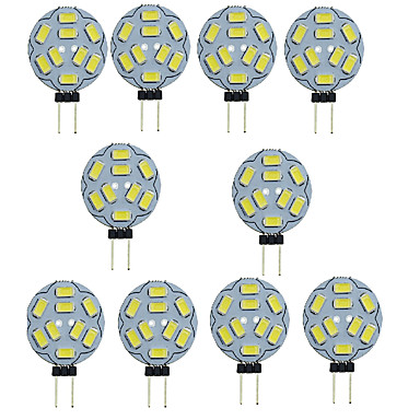10 шт. 1.5 W 150-200 lm G4 Двухштырьковые LED лампы T 9 Светодиодные бусины SMD 5730 Декоративная Тёплый белый / Холодный белый 12 V