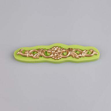 뜨거운 바로크 빈티지 꽃 버스트 swirls 퐁당 케이크 초콜릿 몰드 ramdon 색상에 대한 실리콘 몰드