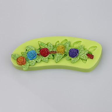 egyedi virágok alakítása szilikon torta díszítő formák csokoládé öntvény konyhai eszközök ramdon szín