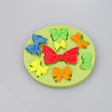 다른 활 모양 초콜릿 diy 퐁당 케이크 장식 실리콘 금형 부엌 bakeware 색상 무작위