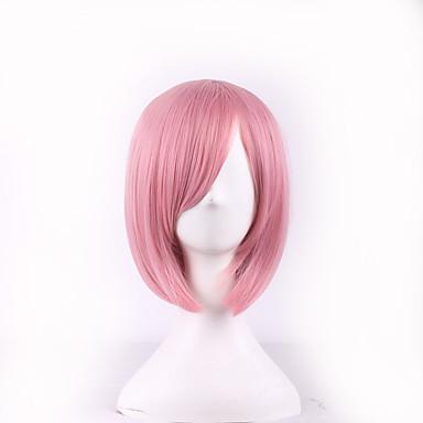Peruki syntetyczne Prosto Fryzura Bob Z grzywką Gęstość Damskie Różowy Karnawałowa Wig Halloween Wig cosplay peruka Krótki Włosy