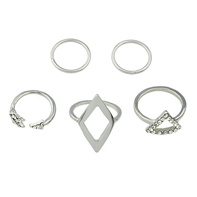 Women's Band Ring / Multi Finger Ring - Alloy Personalized, Fashion 7 Silver For Party / Daily / Casual