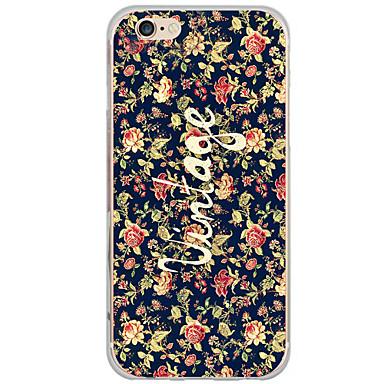 Mert iPhone 6 tok / iPhone 6 Plus tok Minta Case Hátlap Case Virág Kemény PC Apple iPhone 6s Plus/6 Plus / iPhone 6s/6 / iPhone SE/5s/5