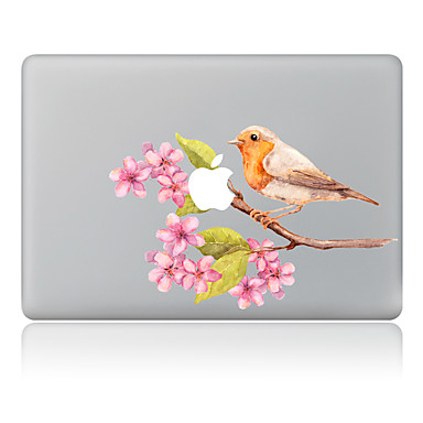 1 szt. Naklejka na obudowę na Odporne na zadrapania Kwiaty Wzorki PVC MacBook Pro 15'' with Retina MacBook Pro 15'' MacBook Pro 13'' with