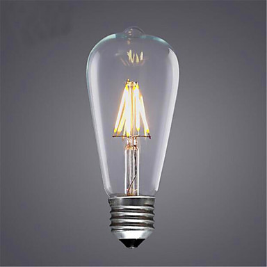 1szt 300-350lm E26 / E27 Żarówka dekoracyjna LED ST64 4 Koraliki LED COB Dekoracyjna Ciepła biel / Zimna biel 220-240V / 1 sztuka / RoHs