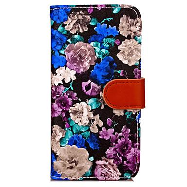 케이스 제품 Apple iPhone X iPhone 8 Plus iPhone 7 iPhone 7 Plus iPhone 6 iPhone 6 Plus 지갑 카드 홀더 스탠드 플립 풀 바디 꽃장식 하드 인조 가죽 용 iPhone X iPhone 8